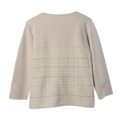 Tweed Stitch Panel Sweater