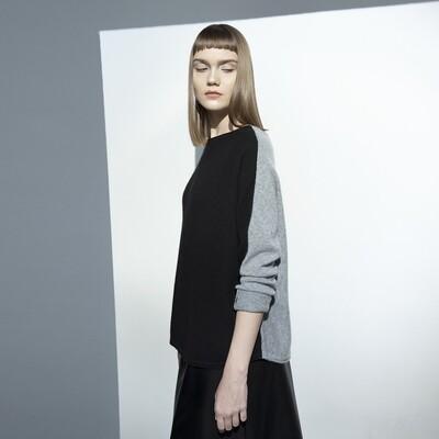 2-Way Colour Blocking Cashmere Sweater