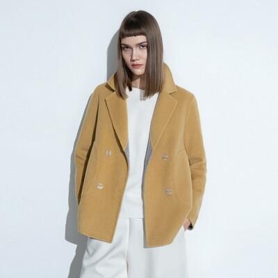 Round Hem Double Faced Wool Coat