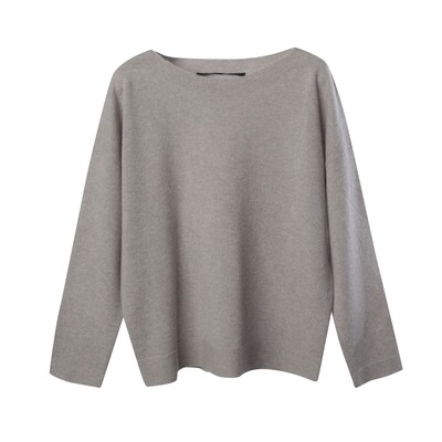 Links Details Cashmere Sweater - Silver Grey