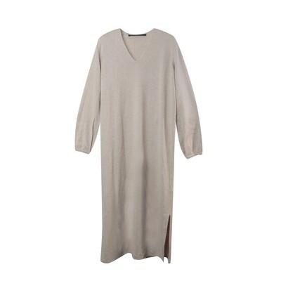 Angora Wool Knit Dress - Natural