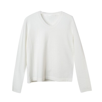Convex Line Details Sweater - Eggshell
