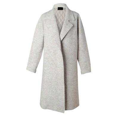 Padded Back Knit Long Blazer - Dove
