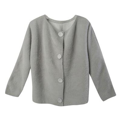 Wool Felt & Nylon Fur 2-way Jacket - Dark Olive