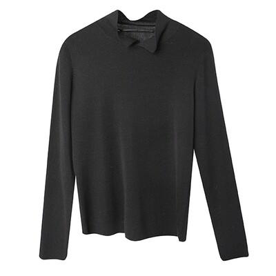 Shirt Collar Sweater - Black