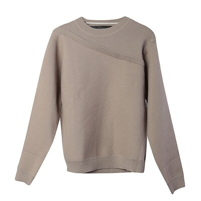 2 in 1 Crew Neck Sweater - Mushroom