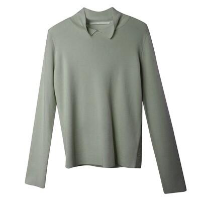Shirt Collar Sweater - Olive