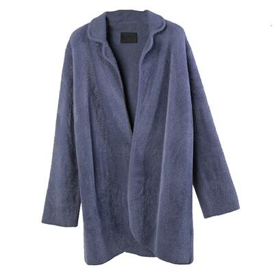 Nylon-Fur Knitted Coat - Lavender