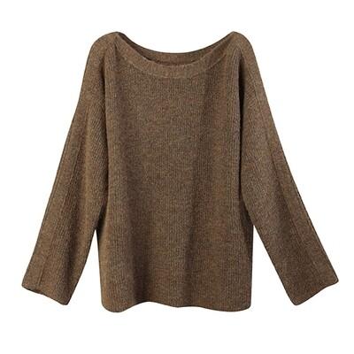 Mixed-Yarns Oversized Sweater - Kangaroo