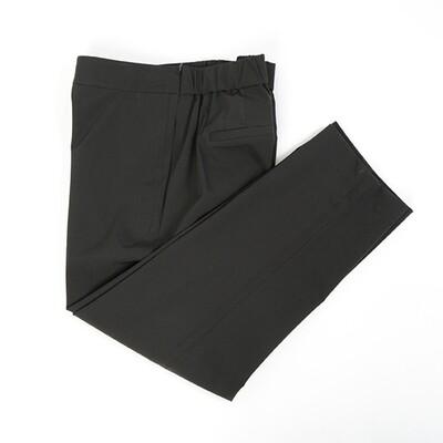 Laser Cut Side Seam Capri-BLACK