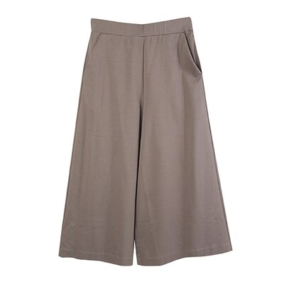 Classic Relaxed Culottes-CHOCOLATE
