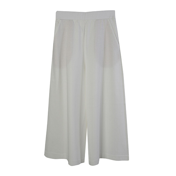 Classic Relaxed Culottes-EGGSHELL