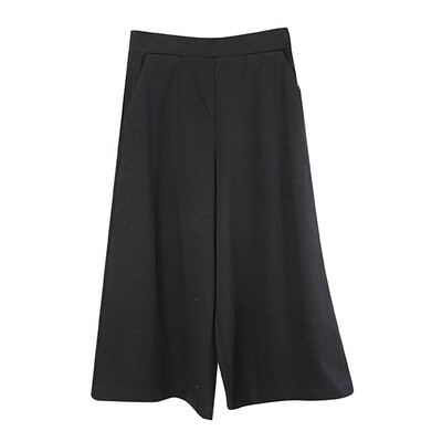 Classic Relaxed Culottes-Black