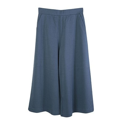 Classic Relaxed Culottes-BLUE MIRAGE