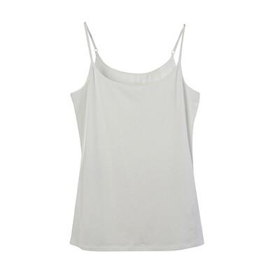 Modal Spandex Essential Slip Top-WHITE