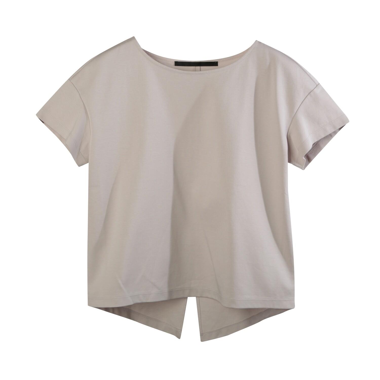 Back Slit Medium Weight Chintz Cotton Top-PALE PINK
