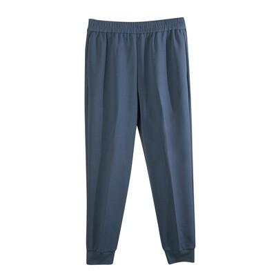 Knit Crepe Track Pants-INK