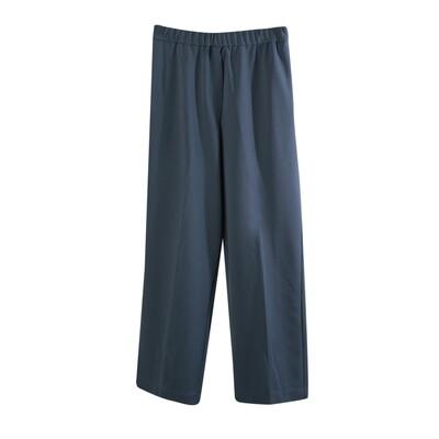 Knit Crepe Classic Long Pants-INK