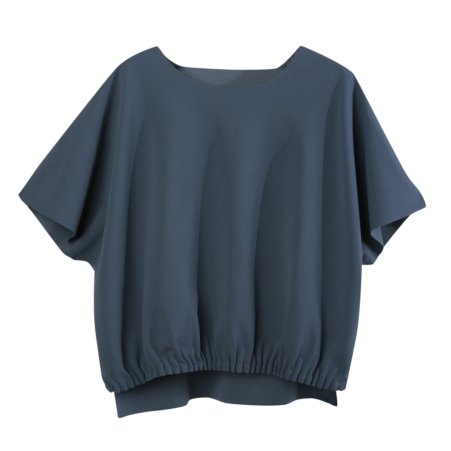 Pin Tuck Pleating Detail Top-INK