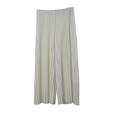 Pin Tuck Pleated Culottes-EGGSHELL