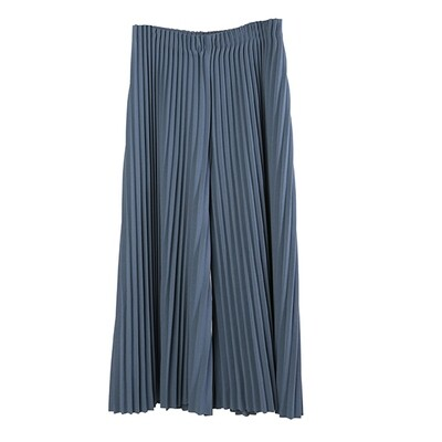Pin Tuck Pleated Culottes-INK