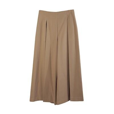 Inverted Pleat Wide-Leg Pants-CAMEL