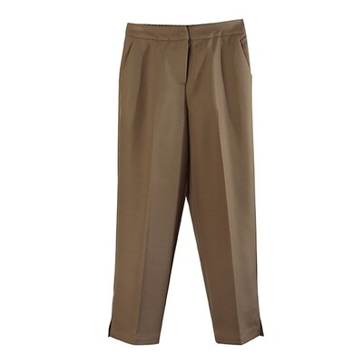 CROP TAILOR PANTS-CAMEL