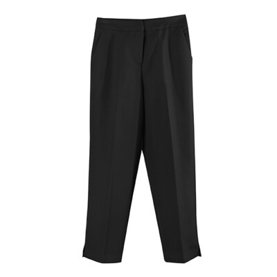 CROP TAILOR PANTS-BLACK