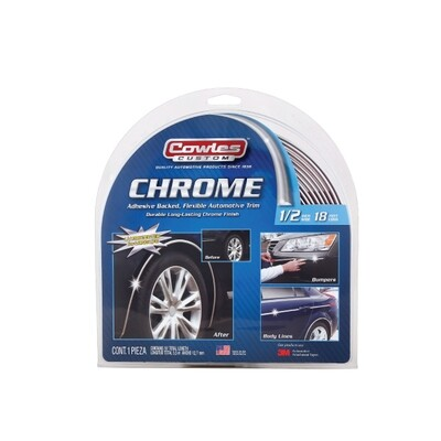 Cowles® S37750 Custom Chrome Molding Trim 1/2