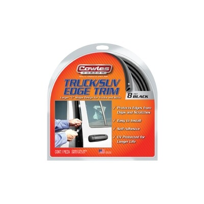 Cowles® S37203 Black Truck Door Edge Guard Trim 8 Feet
