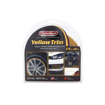 Cowles® S37526 Yellow Body Molding and Trim 1/4