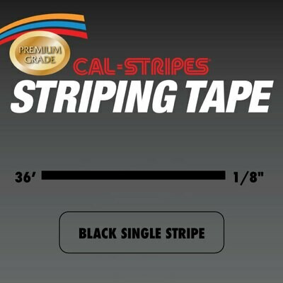Cal-Stripes® Black Single Pinstriping Tape 1/8