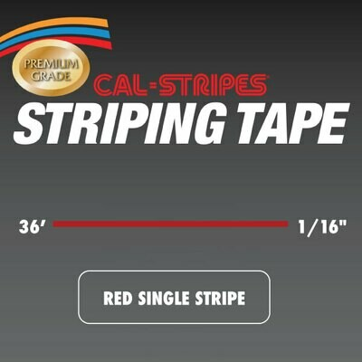 Cal-Stripes® Red Single Stripe 1/16