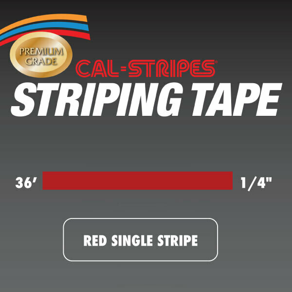 Cal-Stripes® Red Single Stripe 1/4