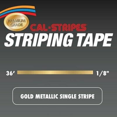 Cal-Stripes® Gold Metallic Single Stripe 1/8