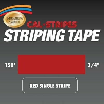Red Single Stripe 3/4