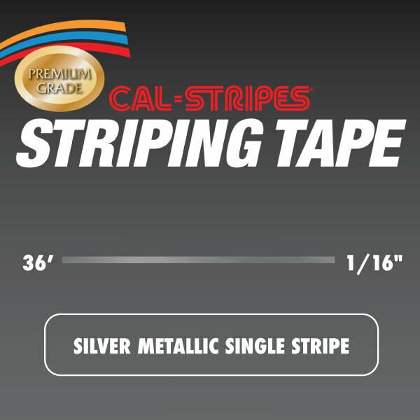 Silver Metallic Single Stripe 1/16