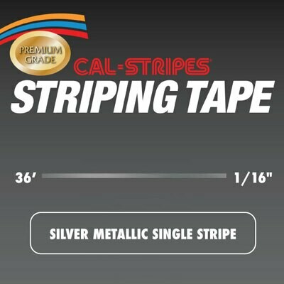 Silver Metallic Single Stripe 1/16