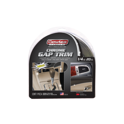 Cowles® S37530 Chrome Gap Trim 1/4