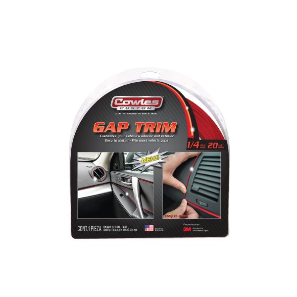 Cowles® S37527 Custom Red Gap Trim 1/4