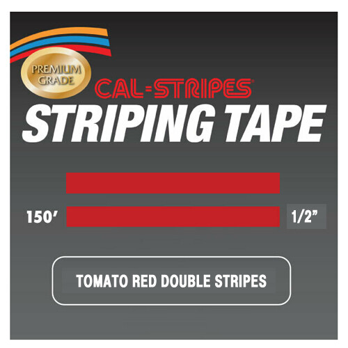 Cal-Stripes® Tomato Red Double Stripes 1/2