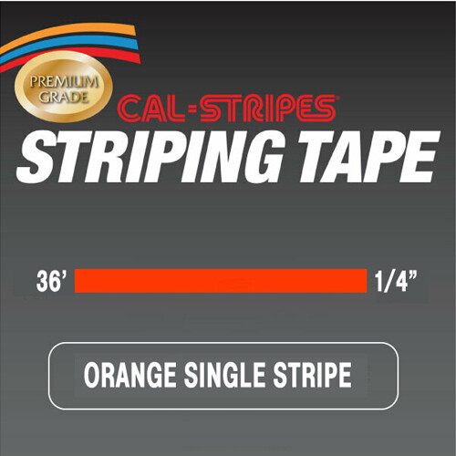 Cal-Stripes® Orange Single Pinstriping Tape 1/4