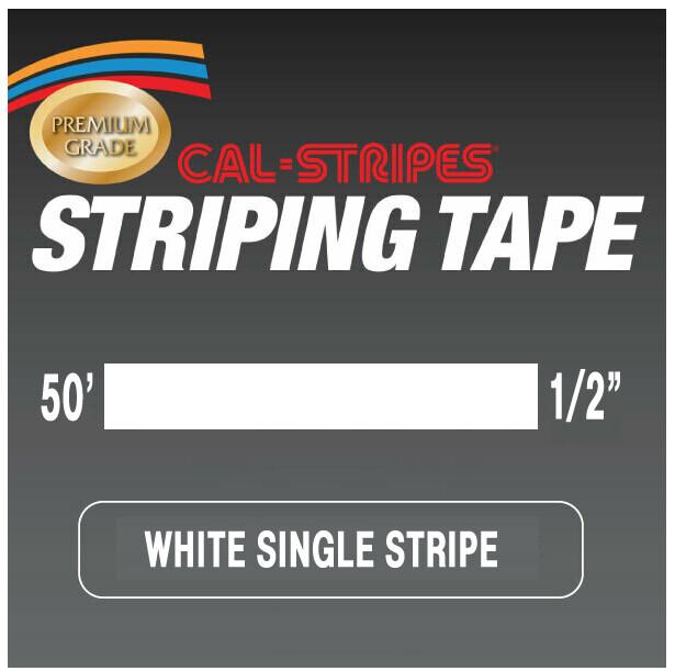 Cal-Stripes® White Single Pinstriping Tape 1/2