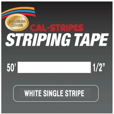 Cal-Stripes® White Single Pinstriping Tape 1/2