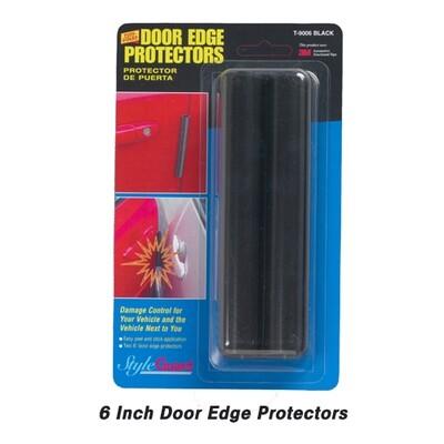 Cowles® T9006 Black Door Edge Protectors 6 Inch (2)