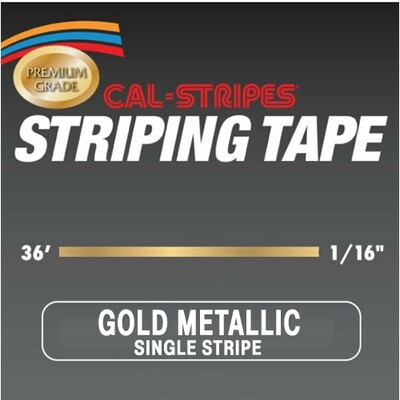 Cal-Stripes® Gold Metallic Single Stripe 1/16