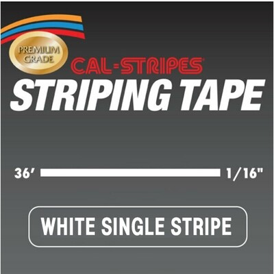 White Single Stripe 1/16