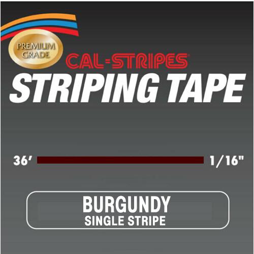 Cal-Stripes® Burgundy Single Pinstriping Tape- 1/16