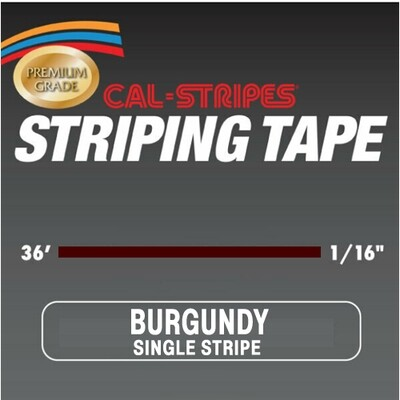 Cal-Stripes® Burgundy Single Pinstriping Tape- 1/16