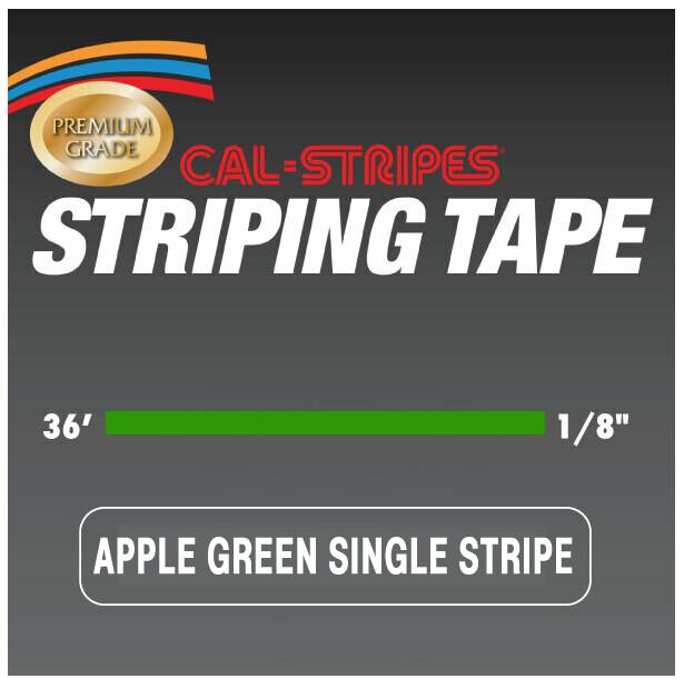 Cal-Stripes® Apple Green Single Pinstriping Tape 1/8